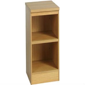 Whites Low Narrow Bookcase