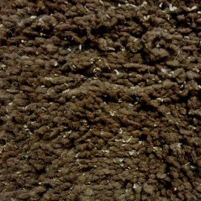 Dark Chocolate Shaggy Rug (244 x 150cm)