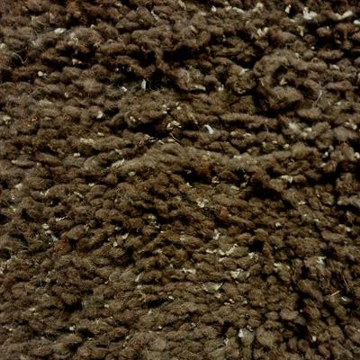 Dark Chocolate Visco Shaggy Rug (244 x 150cm)