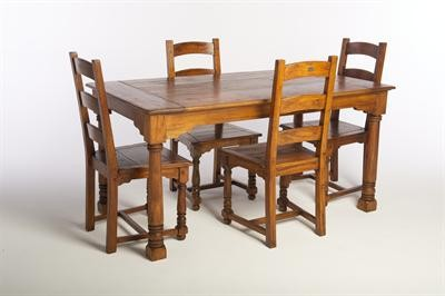 East Indies Dining Table & 4 Chairs