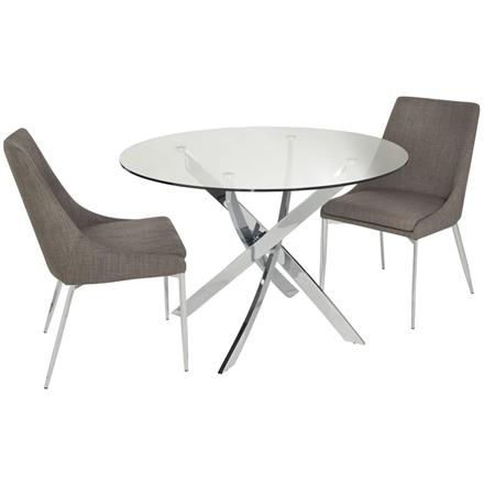 Cluster Circular Glass Dining Table