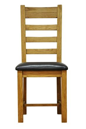 Stafford Ladder Back Chair with PU Seat