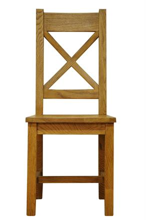 Stafford Cross Back Chair with Wooden Seat