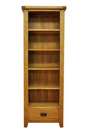Stafford Large Narrow Bookcase with Drawer
