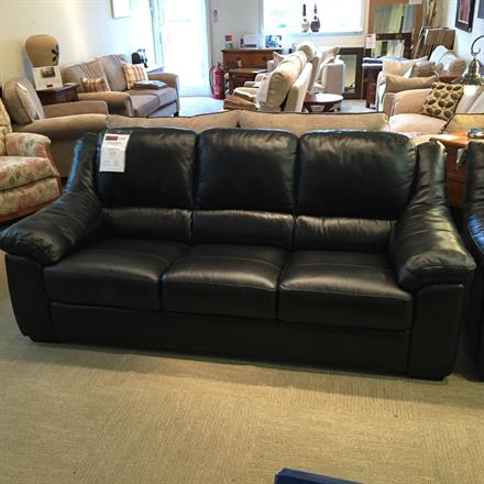 PRINCETOWN Leather 3 Seater, Chair & Storage Footstool