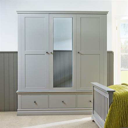 Annecy Triple Wardrobe with 3 Drawers