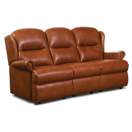 Malvern Fixed 3 Seater Sofa (leather)
