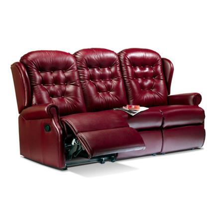 Sherborne Lynton Reclining 3 Seater Sofa (leather)