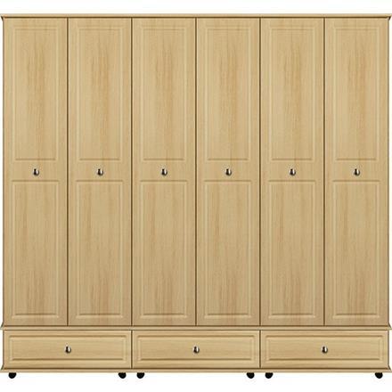 Deco 6 Door / 3 Drawer Tall Wardrobe