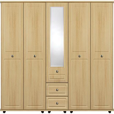 Deco 5 Door with Centre Mirror / 2 Drawer Wardrobe