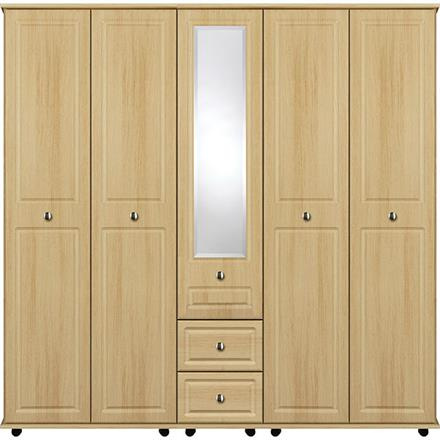 Deco 5 Door with Centre Mirror / 2 Drawer Wardrobe