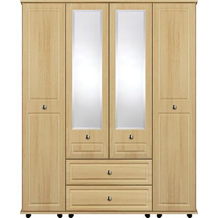 Deco 4 Door with 2 Centre Mirrors / 2 Drawer Wardrobe