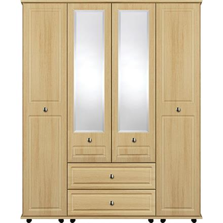 Deco 4 Door with 2 Centre Mirrors / 2 Drawer Wardrobe