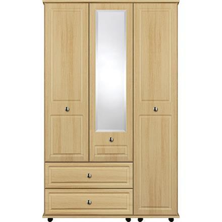 Deco 3 Door with 1 Centre Mirror / 2 Drawer Wardrobe