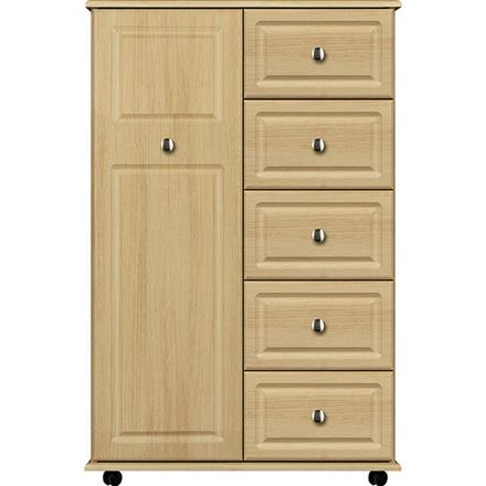Deco 1 Door / 5 Drawer Linen Cupboard