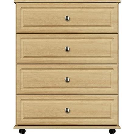Deco 4 Drawer Wide Chest