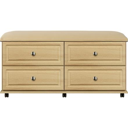 Deco 4 Drawer Padded-top Bed End Chest