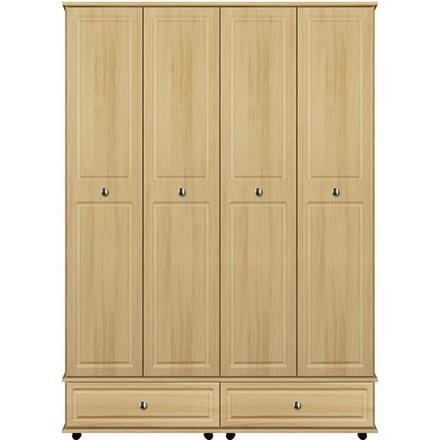 Vogue 4 Door / 2 Drawer Tall Wardrobe