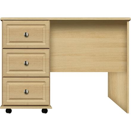 Vogue 3 Drawer Narrow Single Dressing Table