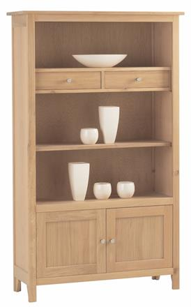 Nimbus Medium Bookcase with Cupboard and Drawers