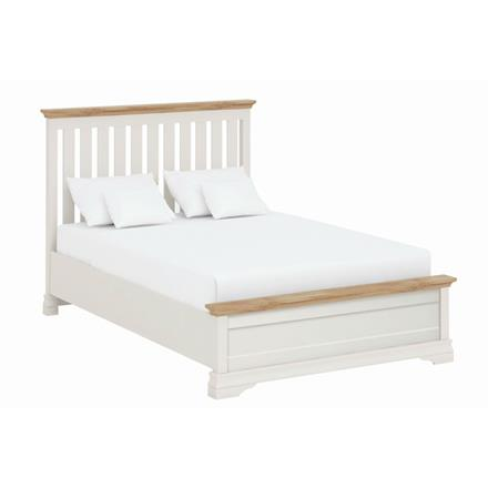 Annecy Oak Top 4'6 Imperial Bedstead with Low Foot End