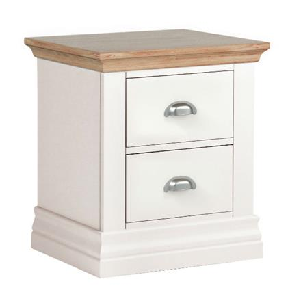 Annecy Oak Top 2 Drawer Bedside Chest