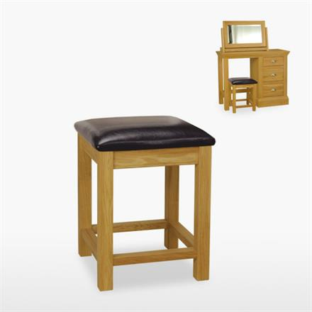 Reims Bedroom Stool (leather seat)