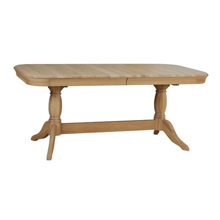 Lamont Double Pedestal Table with 1 Leaf