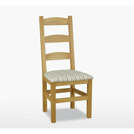 Reims Amish Chair with Fabric Seat