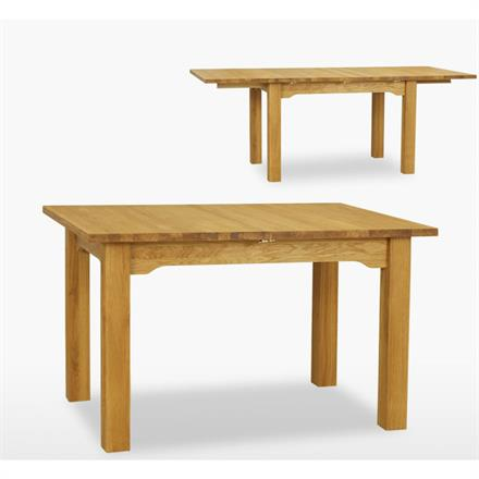 Reims 130cm Extending Straight Leg Table with 2 Leafs