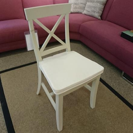 TETBURY Set of 4 Cross Back Chair with Seat Pad