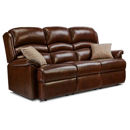 Olivia Fixed 3 Seater Sofa (leather)