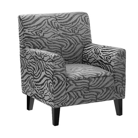 Luxe Chair in Grey Textured Animal Print