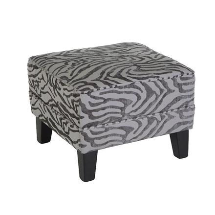Luxe Stool in Grey Textured Animal Print