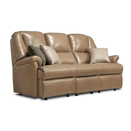 Milburn Fixed 3 Seater Sofa (leather)
