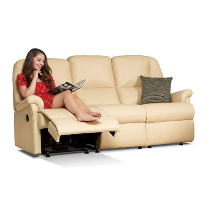 Milburn Reclining 3 Seater Sofa (leather)