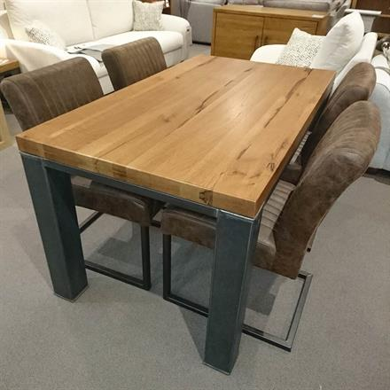 ABBEY 1.4m Industrial Dining Table