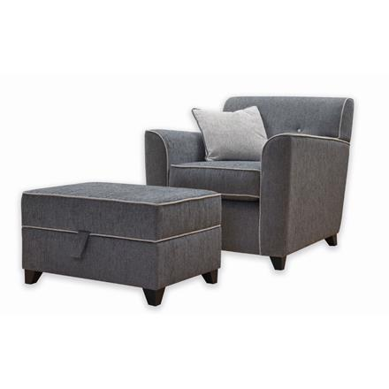 Lille Snuggler Chair and  Storage Stool