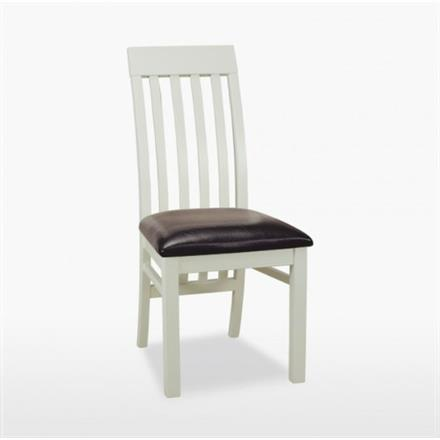 Coelo Savona Slatted Dining Chair in Leather