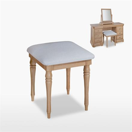 Lamont Bedroom Stool in Leather