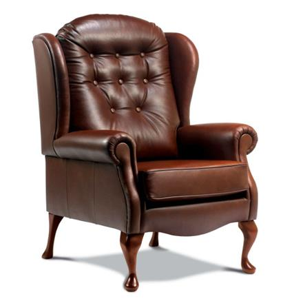 Sherborne Lynton Fireside High Seat Chair (leather)