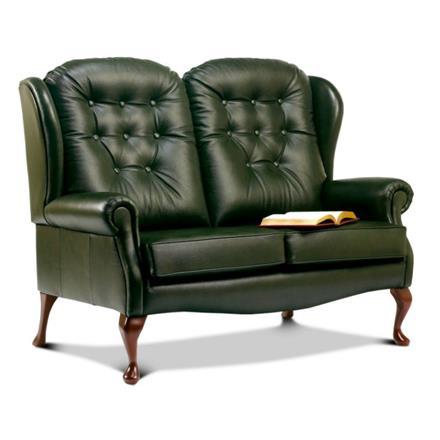 Sherborne Lynton Fireside High Seat 2 Seater Sofa (leather)