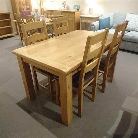 SORRELL Dining Table & 4 Chairs