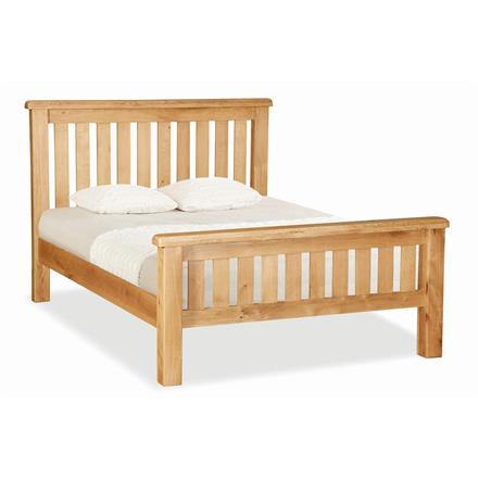 Crealey 4'6 Slatted Bedstead with High Foot End