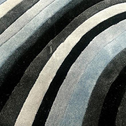 Swirl Black Rug (180 x 120cm)