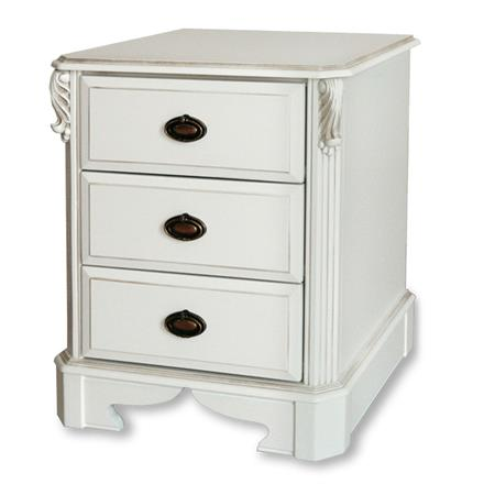 Amore Three Drawer Wide Bedside Chest