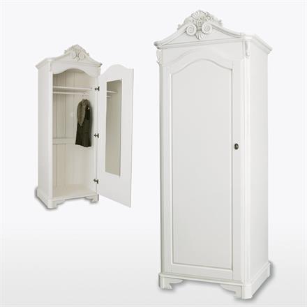 Amore One Door Crested Wardrobe