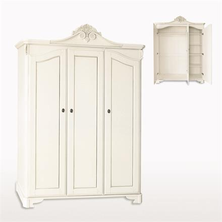 Amore Three Door Crested Wardrobe