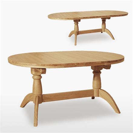 Windsor Oval Extending Double Pedestal Extending Dining Table