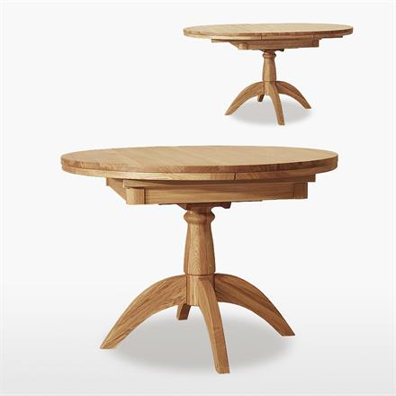 Windsor Round Single Pedestal Extending Dining Table